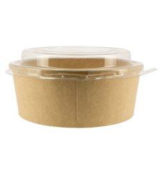 Suppenbecher To Go Kraft-Kraft Mit Deckel RPET 19 Oz/550 ml (50 Stück)