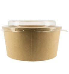 Suppenbecher To Go Kraft Mit Deckel PET 25 Oz/750 ml (50 Stück)