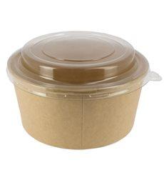 Suppenbecher To Go KraftMit Deckel PET 25 Oz/750ml (300 Stück)