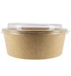 Suppenbecher To Go Kraft-Kraft Mit Deckel RPET 38 Oz/1120 ml (25 Stück)
