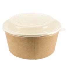 Suppenbecher To Go Kraft Mit Deckel PP 25 Oz/750 ml (300 Stück)