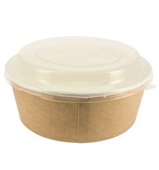 Suppenbecher To Go Kraft Mit Deckel PP 38 Oz/1120 ml (100 Stück)
