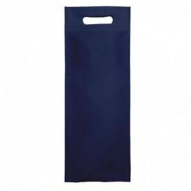 Tragetashe Heissgesiegelt mit Bondenfalte Marinblau 17x40+10cm 80g (25 Stück)