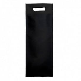 Tragetashe Heissgesiegelt mit Bondenfalte Schwarz 17x40+10cm 80g (25 Stück)