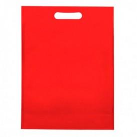 Tragetashe Heissgesiegelt mit Bondenfalte Rot 17x22,5+5cm 80g (25 Stück)