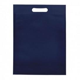 Tragetashe Heissgesiegelt mit Bondenfalte Marinblau 17x22,5+5cm 80g (25 Stück)