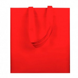 Tragetashe Heissgesiegelt ohne Bondenfalte Rot 38x42cm 80g (25 Stück)