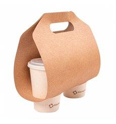 Becherhalter aus Papier Kraft 46,5x22,5cm Ø6,7cm (100 Stück)