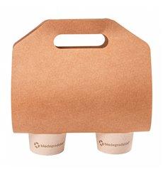 Becherhalter aus Papier Kraft 46,5x22,5cm Ø6,7cm (400 Stück)