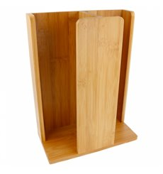Becherspender und Deckel aus Bambus 23x12x30cm (8 Stück)