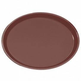 Plastiktablett Oval Rutschfeste Braun 67,0x55,5cm (1 Stück)