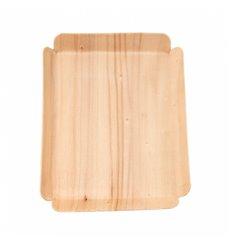Holz Backform Rechteckig 15x11,5x1,5 cm (50 Stück)