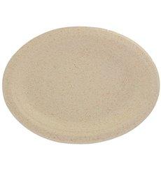 Teller Weizenkleie Bio 26x20cm (50 Stück)