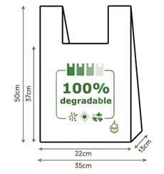 Hemdchenbeutel 100% bio- abbaubar 35x50cm (100 Stück)