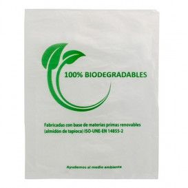 Flachbeutel Markt 100% bio-abbaubar 30x40cm (100 Stück)