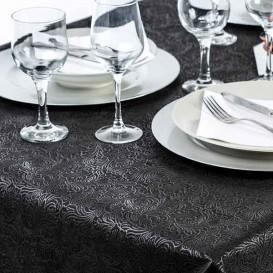 Tischdecke Non Woven PLUS Schwarz 120x120cm (150 Stück)