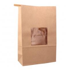 Papiertüten mit Fenster und Innenfolie 15+7x23cm (50 Stück)