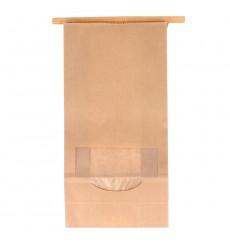 Papiertüten mit Fenster und Innenfolie 12+6x23,5cm (50 Stück)
