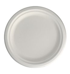 Teller Zuckerrohr Weiß Ø17 cm (50 Stück)