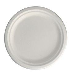Teller Zuckerrohr Weiß Ø17 cm (800 Stück)