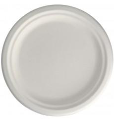 Teller Zuckerrohr-Fasern Weiß Ø155mm (50 Stück)