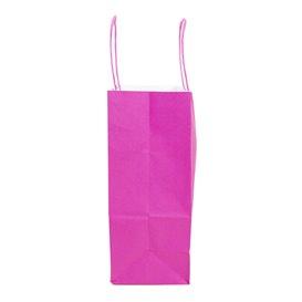 Papiertüten Pink mit Henkeln 20+10x29cm (50 Stück)