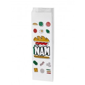 Papierbeutel für Baguette Ñam 10x4x29cm (125 Stück)