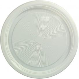 Maisstärker Teller PLA flach Weiss Ø220 mm (25 Stück)