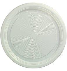 Maisstärke Teller PLA flach Weiss Ø220 mm (375 Stück)