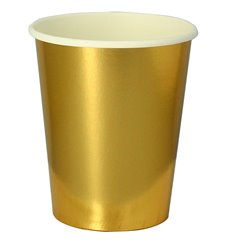 "Becher to go Karton Gold 9 Oz/240ml ""Party"" (10 Stück)"