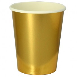 "Becher to go Karton Gold 9 Oz/240ml ""Party"" (300 Stück)"