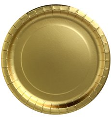 "Pappteller Rund ""Party Shiny"" Gold Ø180mm (10 Stück)"