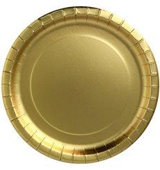 "Pappteller Rund ""Party Shiny"" Gold  Ø180mm (300 Stück)"