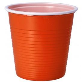 Plastikbecher Orange PS 230ml (690 Stück)