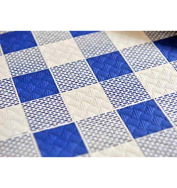 """Papiertischdecke 1,2x1,2m """"Kariert Blau"""" 40g (300 Stück)"""