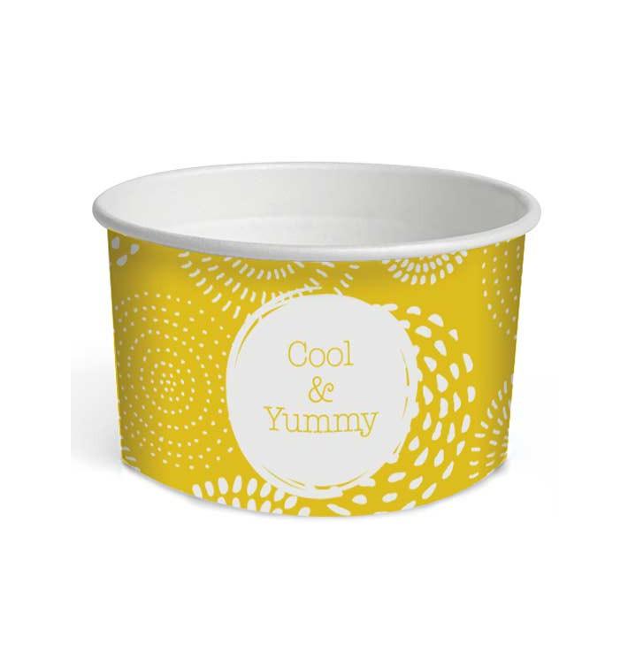 """Pappbecher für Eis """"Cool&Yummy"""" 5oz/140ml (1000 Stück)"""