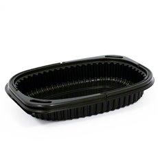 Plastikbehälter Rechtecking PP Schwarz 400ml 190x140x32mm (40 Stück)