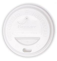 Deckel aus PLA für Pappbecher 6Oz/8Oz weiß Ø7,0cm (1000 Stück)