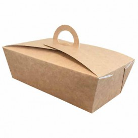 "SnackBox Amerikanische ""Doggy Bag"" Kraft 12x9x5cm (350 Stück)"