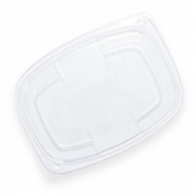 Deckel Transparent Plastikbehälter 1050/1250ml 255x189x20mm (320 Stück)