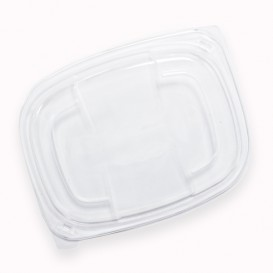 Deckel Transluzenten Plastikbehälter 250/350 und 450ml 142x111x20mm (640 Stück)