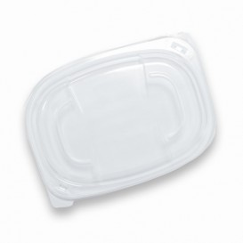 Deckel Transluzenten Plastikbehälter 400/600ml 190x140x20mm (20 Stück)