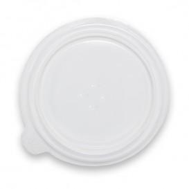 Deckel Lichtdurchlässig Plastikbehälter 350/400ml Ø120x18mm (100 Stück)