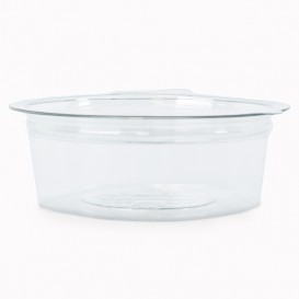 Transparente Dressingbecher mit Klappdeckel Rund APET 50ml Ø70mm (50 Stück)