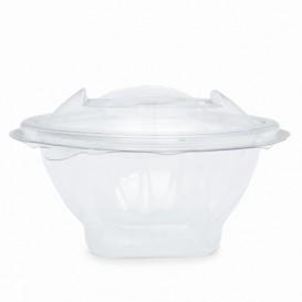 Transparente Salatschule mit Klappdeckel Rund APET 150ml Ø120mm (420 Stück)