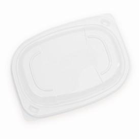 Deckel Transparent Plastikbehälter 400/600ml 190x140x20mm (20 Stück)