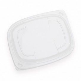 Deckel Transparent Plastikbehälter 800/1000ml 215x170x20mm (320 Stück)