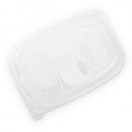 Deckel Transluzenten Plastikbehälter 1050/1250ml 255x189x20mm (320 Stück)