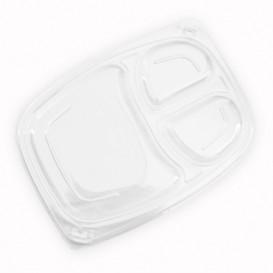 Deckel Transparent Plastikbehälter 3C 1050/1250ml 255x189x20mm (320 Stück)