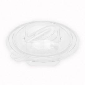 Salatschale mit Klappdeckel und Löffel Rund APET 150ml Ø120mm (60 Stück)